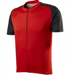 FOX 2015 Maillot Manches Courtes AIRCOOL ZIP Rouge