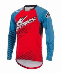 ALPINESTARS Maillot Manches Longues SIGHT MERCURY Rouge Bleu