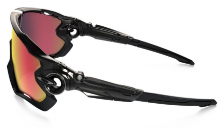 OAKLEY Paire de Lunettes JAWBREAKER POLARIZED Black/Red Iridium Polarized Ref : OO9290-08