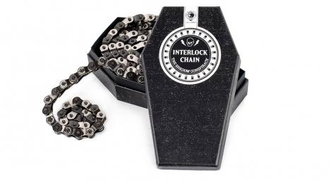 SHADOW Chaine demi maillon 1/8 INTERLOCK V2 Noir Argent