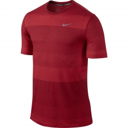 NIKE Maillot DRI-FIT COOL STRIPE TAILWIND CREW Rouge Homme