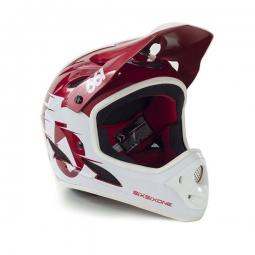 Casque intégral 661 SIXSIXONE COMP Blanc Rouge 2016