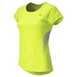 NEW BALANCE T-Shirt HI-LITE Femme Jaune
