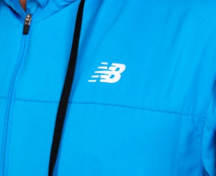 NEW BALANCE Veste à Capuche Sequence Hood Homme Bleu