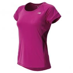 NEW BALANCE T-Shirt POISON BERRY Femme Violet