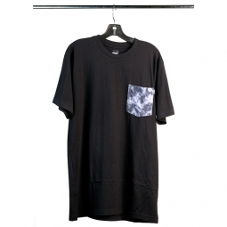 STRANGER Tee Shirt CLOUDY Pocket Noir