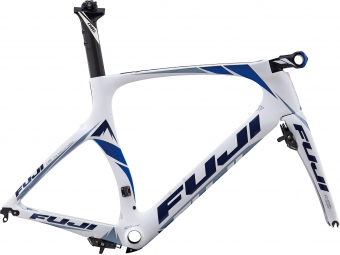 FUJI Kit Cadre triathlon/clm NORCOM STRAIGHT 1.1 Blanc Bleu