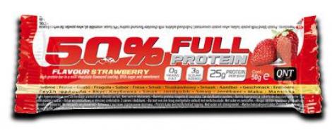 QNT barre 50% FULL PROTEIN fraise 50gr