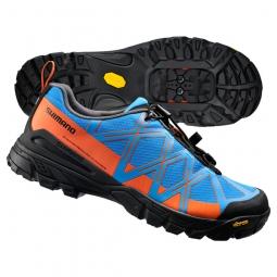 Chaussures VTT SHIMANO MT54 Bleu/Orange SPD/Click'R 2015