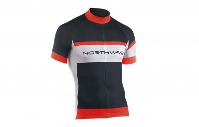 NORTHWAVE Maillot Manches Courtes LOGO Noir Rouge