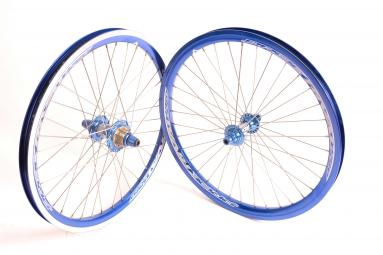 PRIDE Paire de roues RIVAL EXP Expert 1-3/8 Bleu
