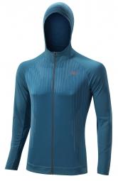 MIZUNO Veste à capuche manches longues BREATH THERMO BODY MAPPING Bleu