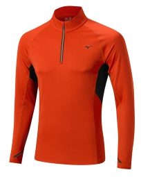 MIZUNO Maillot manches longues WARMALITE TOP 1/2 zip Rouge