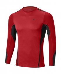 MIZUNO Maillot manches longues VIRTUAL BODY FUSION CREW Rouge