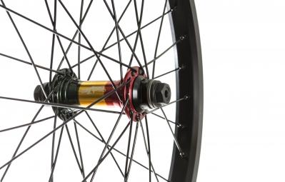 ROCK BMX Roue Avant SWR Edition limitee Noir Rasta