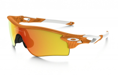OAKLEY Paire de lunettes FINGERPRINT RADARLOCK PATH Orange/Fire Iridium réf oo9181-45
