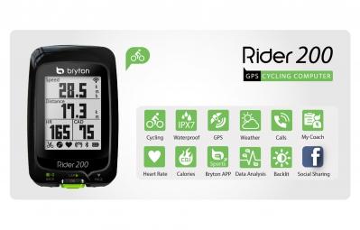 BRYTON Compteur GPS RIDER 200E