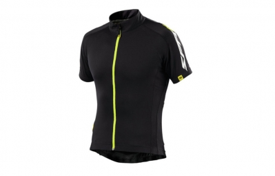 MAVIC Maillot Manches courtes SPRINT Relax Noir/Fluo