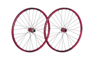 SPANK Paire de roues 27.5'' OOZY TRAIL 260 15mm/12x142mm Rouge