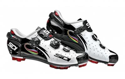 Chaussures VTT Sidi Drako Blanc Noir Iride vernis