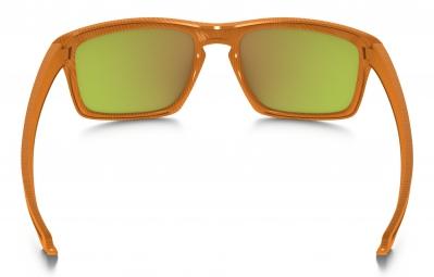 OAKLEY Lunettes FINGERPRINT COLLECTION SLIVER Orange/Fire Iridium Ref oo9262-16
