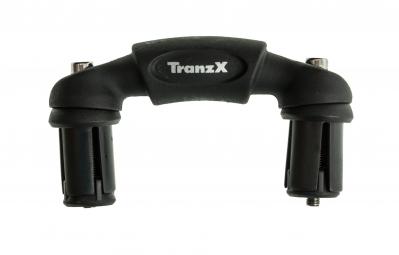 TRANZX Adaptateur jonction prolongateur triathlon / clm Noir mat