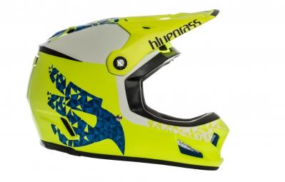 Bluegrass Brave Full Face Helmet - Yellow Blue White