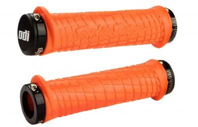 TROY LEE DESIGNS Poignées ODI LOCK-ON Orange