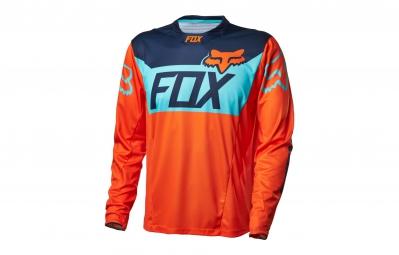 FOX Maillot Manches Longues DEMO DH CRANKWORX Série Limitée Orange Bleu