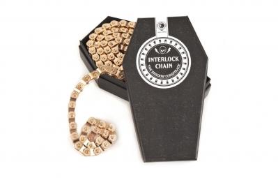 SHADOW Chaine demi maillon 1/8 INTERLOCK V2 Gold