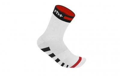 ZERO RH Paire de chaussettes ERGO 13 Blanc Noir Rouge