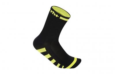 ZERO RH Paire de chaussettes ERGO 13 Noir Jaune