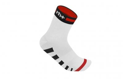 ZERO RH Paire de chaussettes ERGO 9 Blanc Rouge Noir