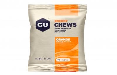 GU Gommes énergétiques Goût Orange 1 portion