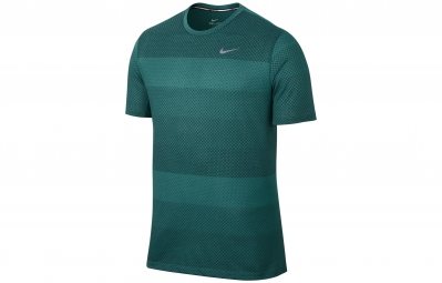 NIKE Maillot DRI-FIT COOL STRIPE TAILWIND CREW Vert Homme