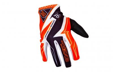 ONEAL 2016 Paire de Gants MATRIX RACEWEAR Blanc Orange