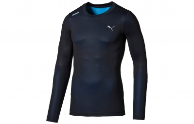 PUMA Tee-Shirt ML Homme POWER Bleu