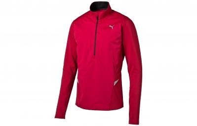 PUMA Tee-Shirt ML 1/2 Zip Homme POWERWARM Rouge