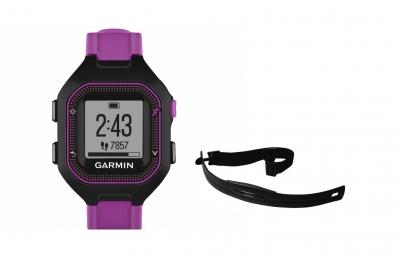 GARMIN Montre GPS FORERUNNER 25 Pack HRM Noir/Violet