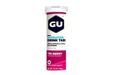 GU 12 Pastilles effervescentes Brew Electrolyte Goût Fruits rouges