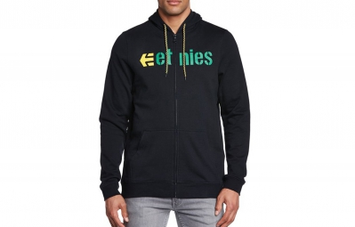 Sweat à Capuche ETNIES CORPORATE ZIP FLEECE Noir/Jaune