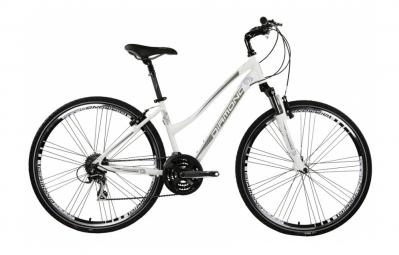 DIAMOND 2015 VTC Femme Vélo Complet Confort Cross SPORT Blanc/Beige