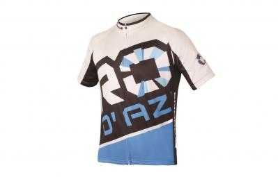 ENDURA 2015 Maillot Manches Courtes ROC D'AZUR DIAGONAL Blanc Bleu