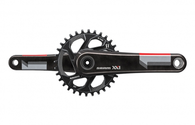 SRAM Pédalier XX1 avec plateau Direct Mount 32 dentsQ-factor 168 mm BB30 non inclusRouge