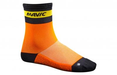 MAVIC 2016 Paire de Chaussettes Ksyrium Carbon Orange x
