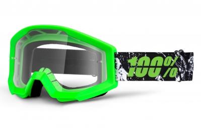 100% Masque STRATA Crafty Vert écran Transparent