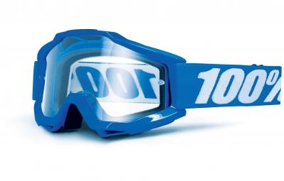 100% Masque ACCURI OTG (Porteur de Lunettes) Bleu Ecran Transparent
