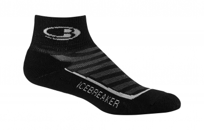 ICEBREAKER Paire de Chaussettes Homme RUN+ LIGHT MINI Black Pearl
