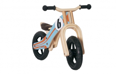 REBEL KIDZ Draisienne Bois BASIC 12´´ Le Mans Orange/Bleu 2 à 5 ans