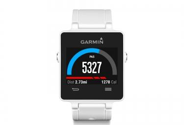 GARMIN montre VIVOACTIVE GPS + Ceinture cardiaque Blanc